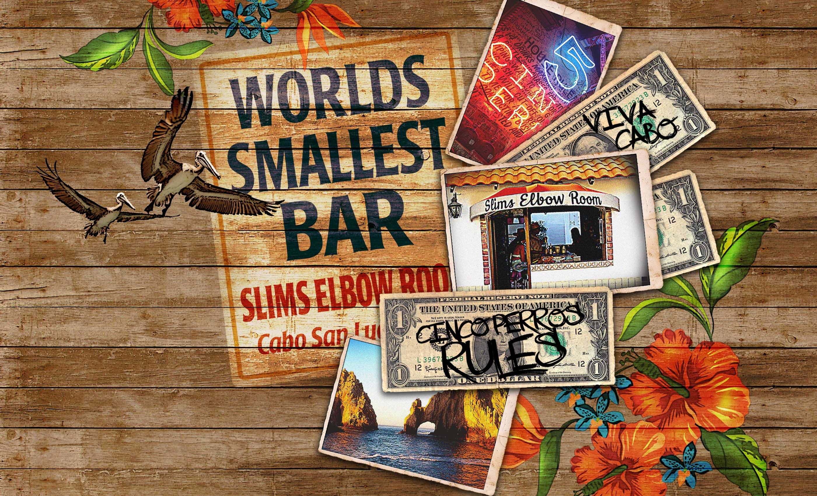 Cabo San Lucas - Slims Elbow Room - Worlds Smallest Bar